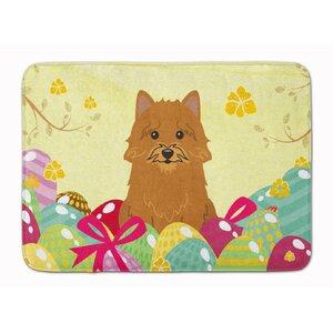 Easter Eggs Norwich Terrier Memory Foam Bath Rug