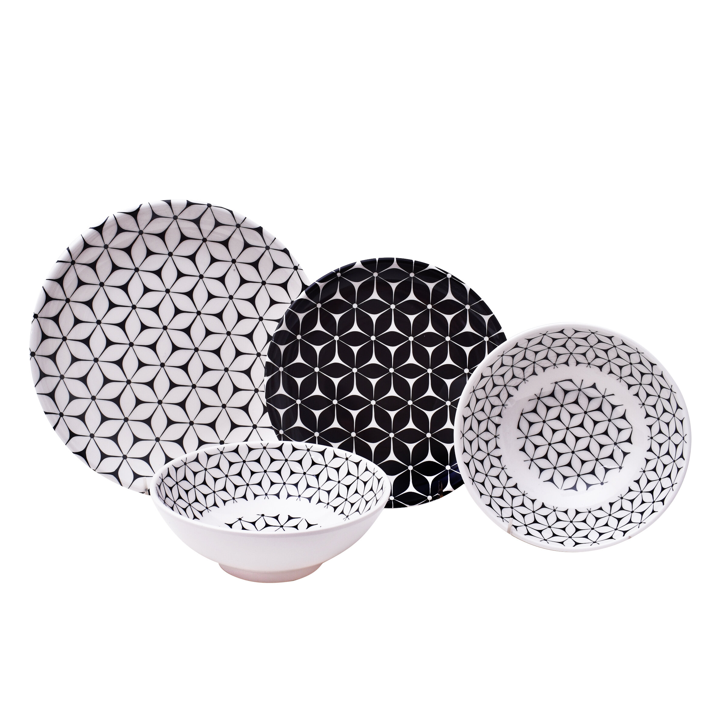 617583845be Strata 12 Piece Melamine Dinnerware Set