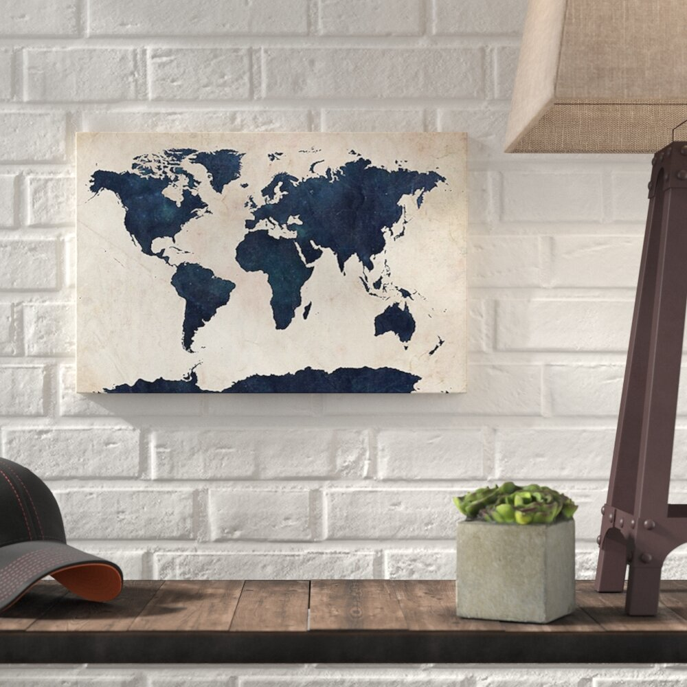 Williston forge world maps gallery graphic art print on wrapped williston forge world maps gallery graphic art print on wrapped canvas reviews wayfair gumiabroncs Images