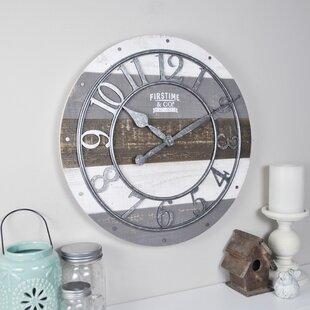 Shabby Wood 16 Wall Clock
