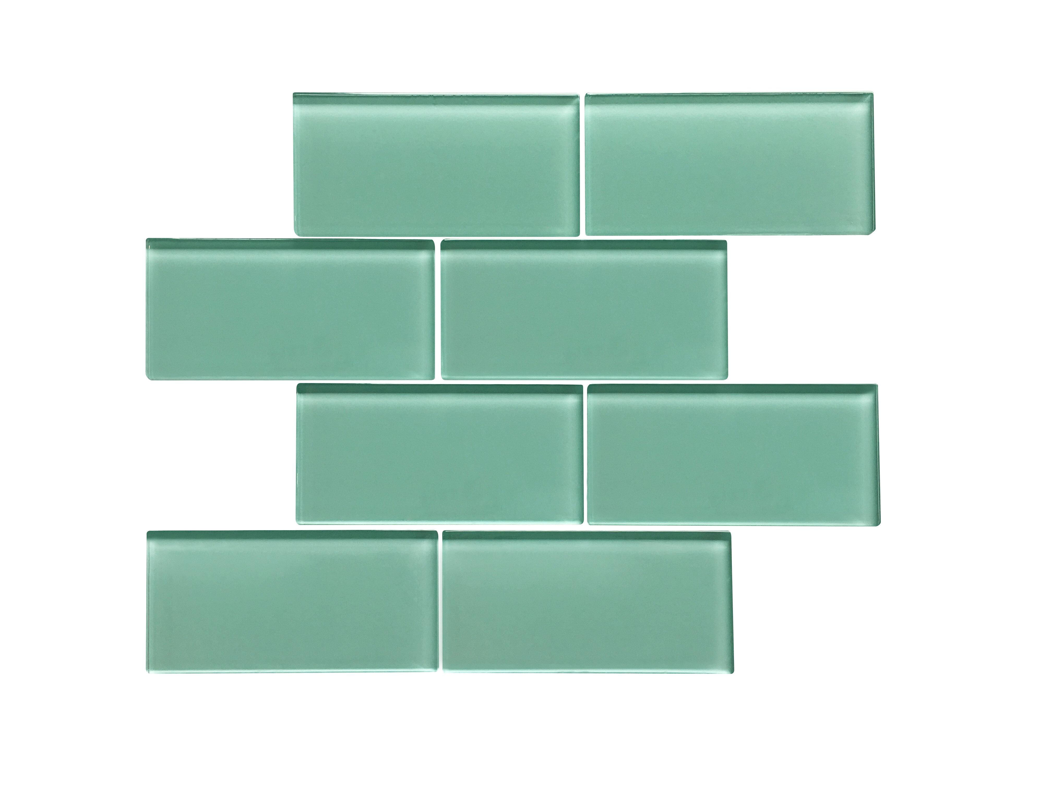 Ws Tiles Premium Series 3 X 6 Gl Subway Tile In Glossy Light Teal Reviews Wayfair