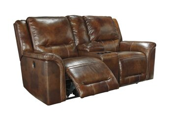 Jayron Leather Reclining Sofa