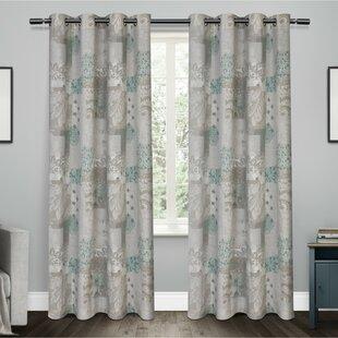 Patchwork Room Darkening Grommet Curtain Panels Set Of 2