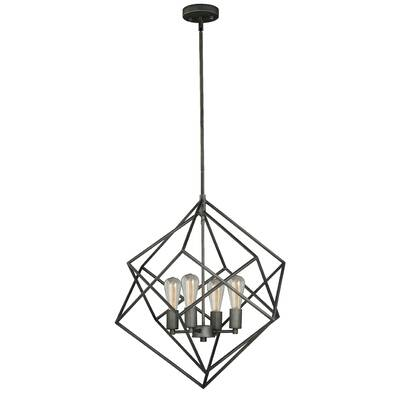 Wrought Studio Abigale 4 Light Geometric Chandelier Reviews