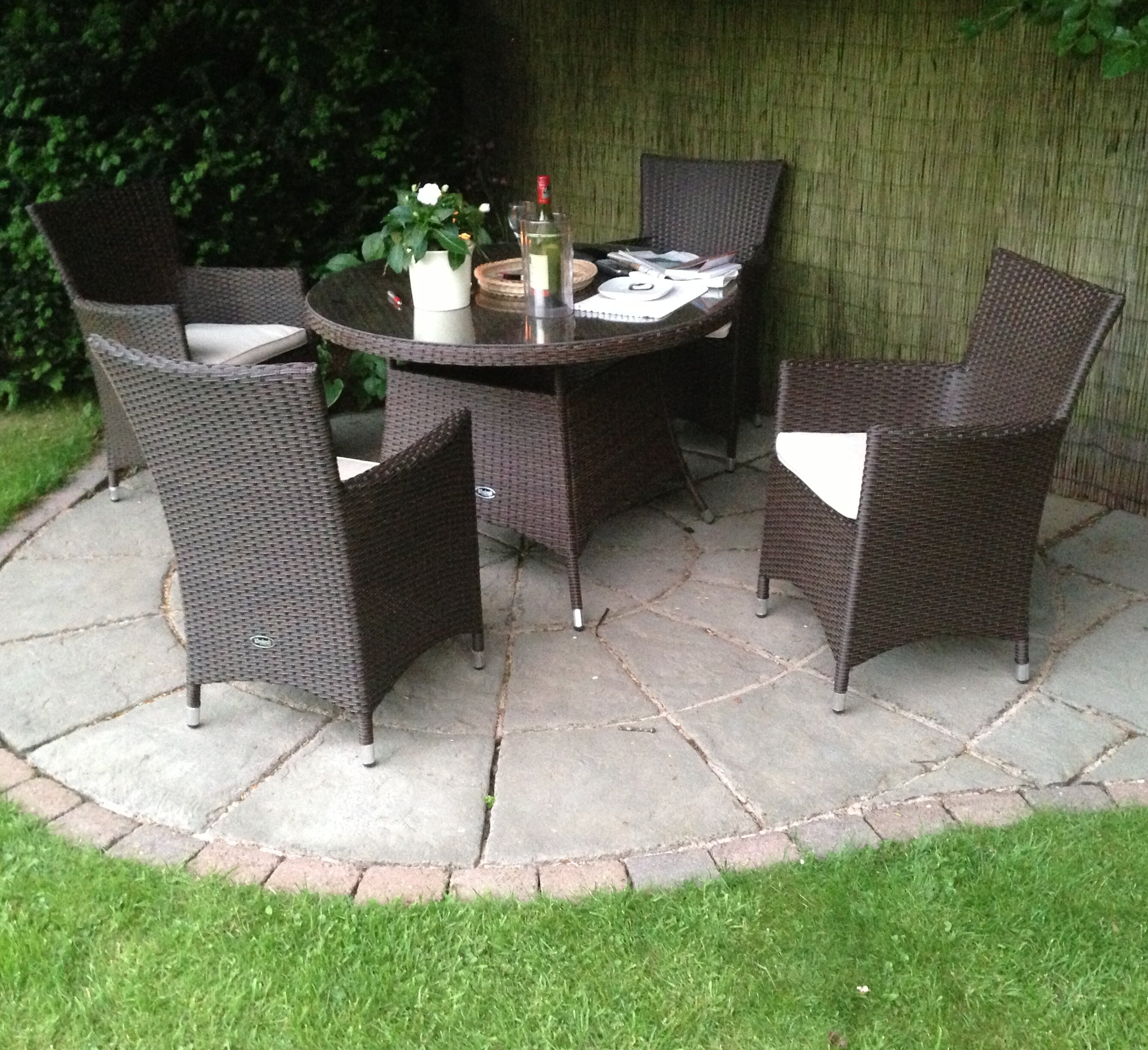 Sol 72 outdoor termonde 4 seater dining set with cushions reviews wayfair co uk