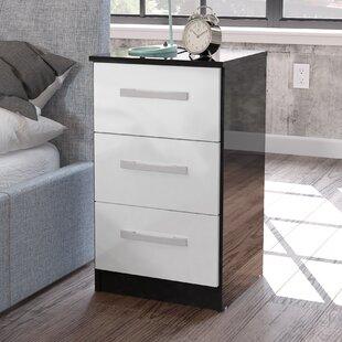 White high gloss bedside table wayfair save watchthetrailerfo