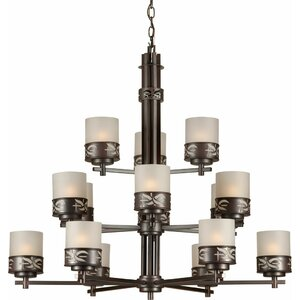 15-Light Shaded Chandelier