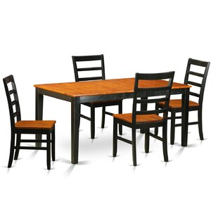 Cleobury Traditional 5 Piece Wood Dining Set
