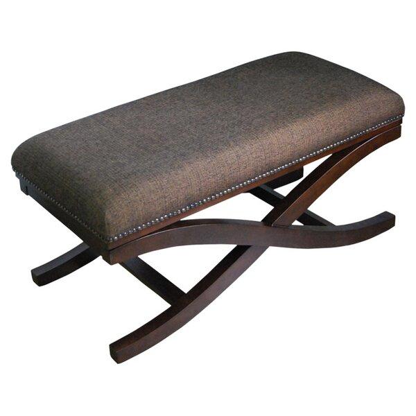 sc 1 st  Wayfair & HomePop Large Upholstered Cocktail X-Leg Bench u0026 Reviews | Wayfair islam-shia.org