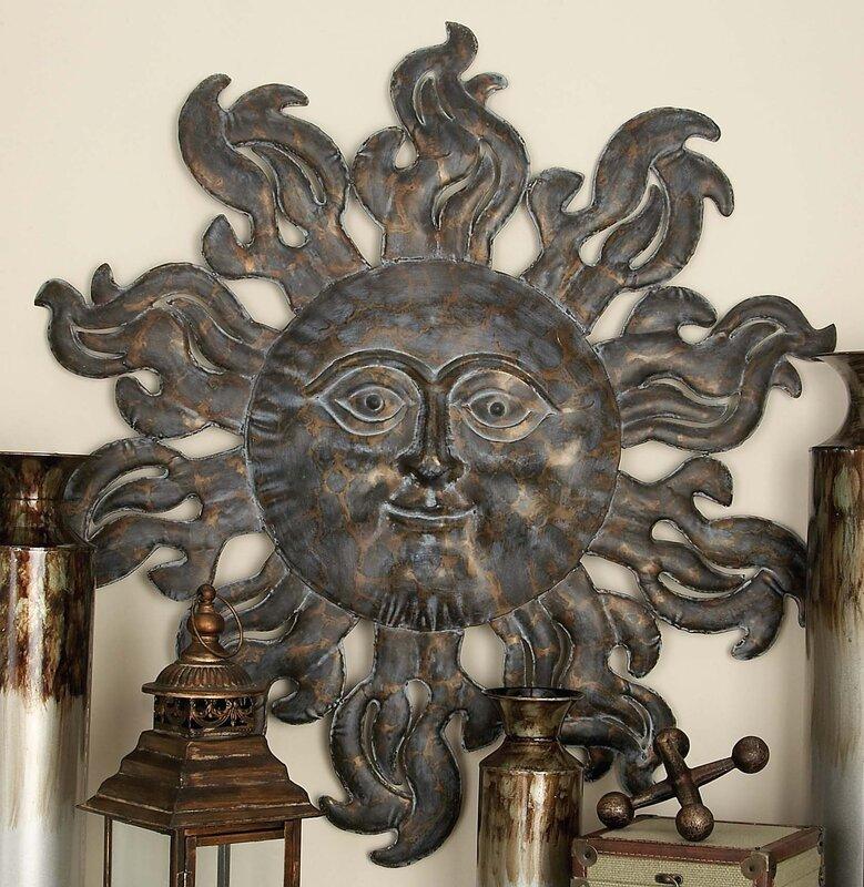 Metal Sun Wall Decor