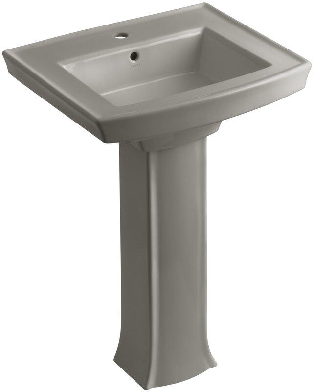 Bathroom Sinks Reviews kohler archer pedestal bathroom sink & reviews | wayfair
