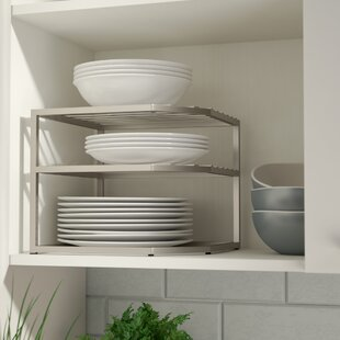 Prevatte Corner Kitchen Cabinet Organizer Rack & Kitchen Cabinet Plate Rack | Wayfair