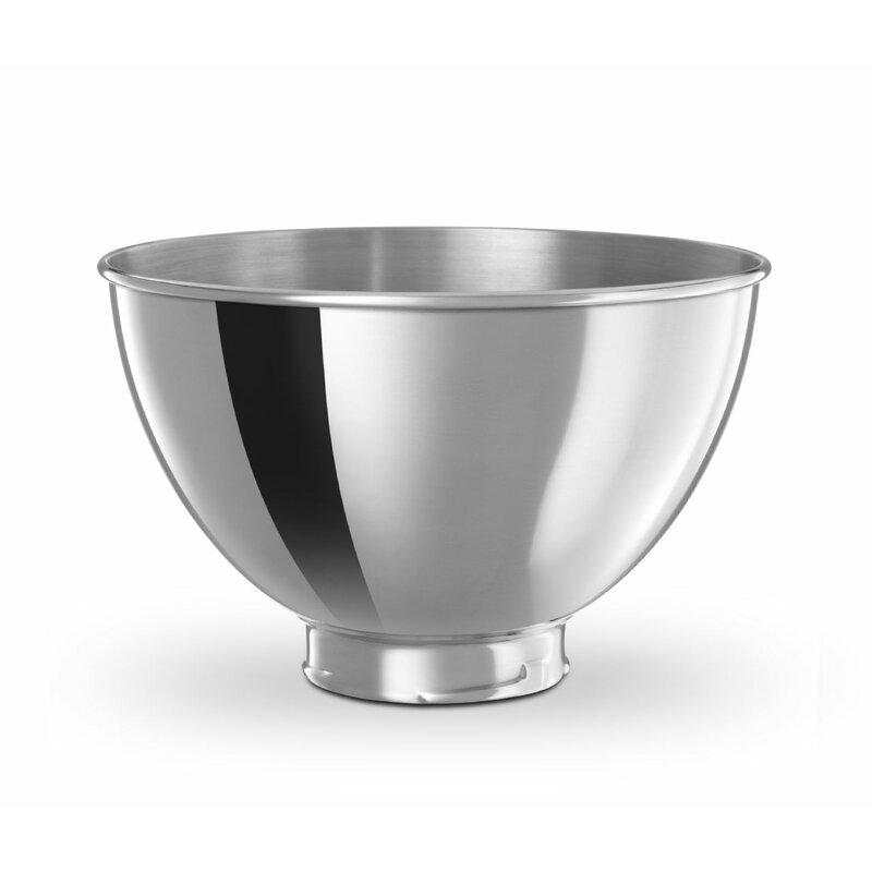 aaf603c7e371 KitchenAid 3 Quart Stainless Steel Mixing Bowl & Reviews | Wayfair