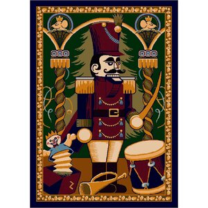 Winter Seasonal Nutcracker Area Rug