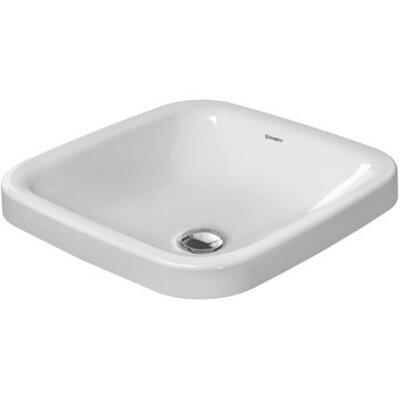 Duravit Durastyle Ceramic Square Undermount Bathroom Sink With Overflow Wayfair