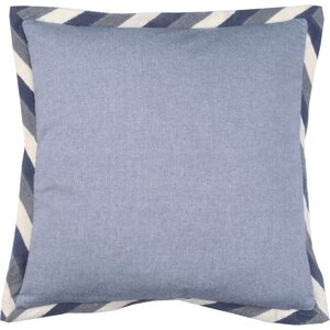 Crewel Border 100% Cotton Throw Pillow