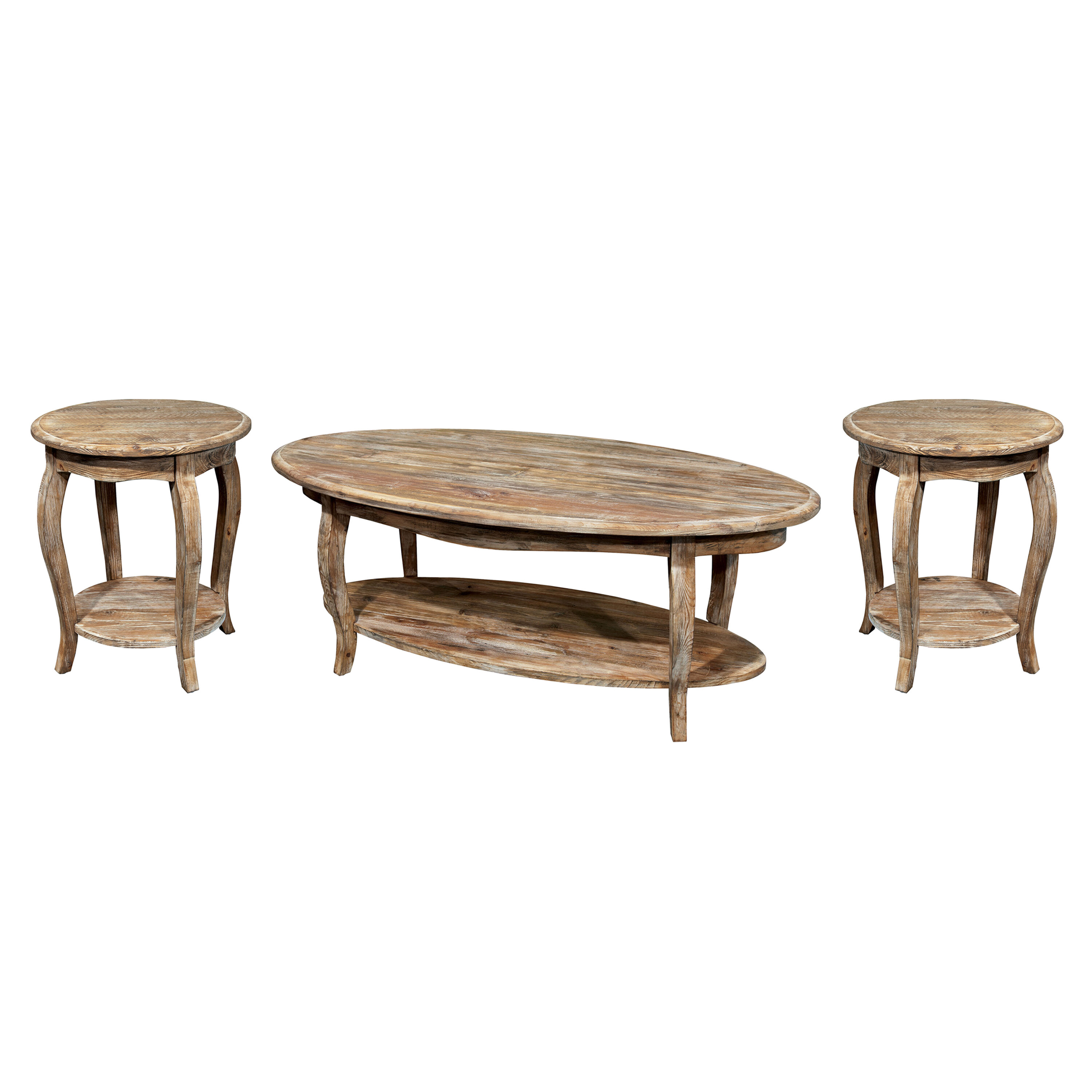 Coffee Table 3 Piece Sets.Francoise 3 Piece Coffee Table Set