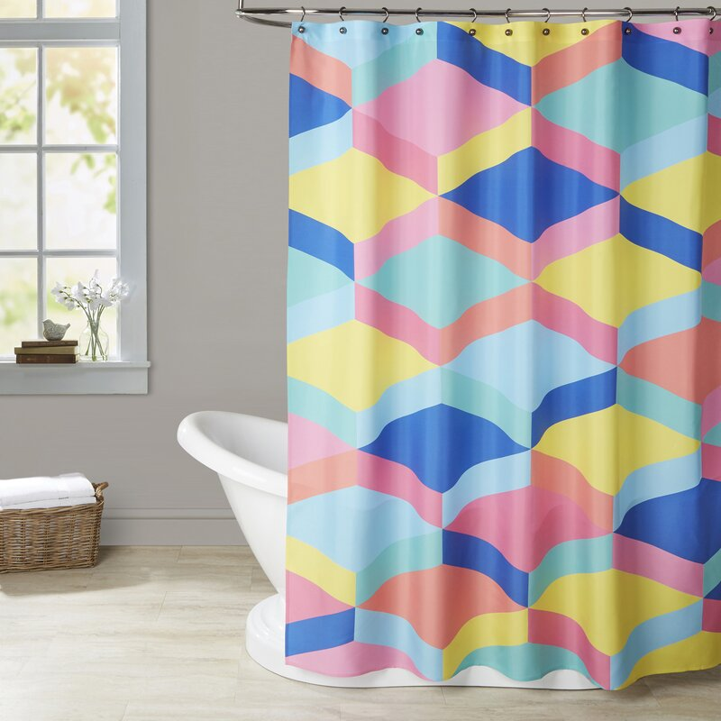 Ashlee Rae Candy Stairs Shower Curtain