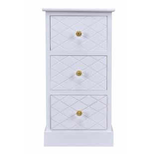 Blanco Wooden Bedside End Table With Storage