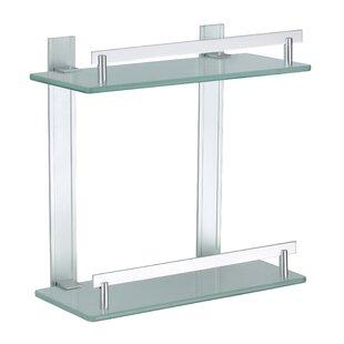 Dvina 3 Level Aluminium and Glass Corner Shelf