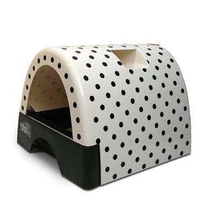 designer cat litter box with polka dot cover - Litter Boxes