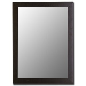 Modern Satin Black Wall Mirror