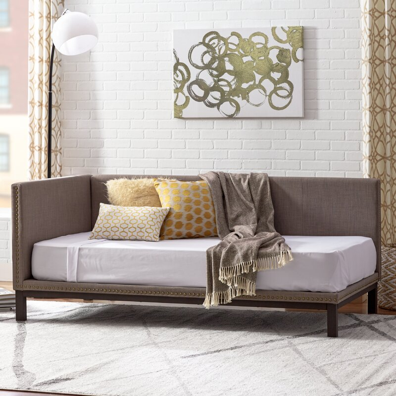 mercury row carwile mid century daybed reviews wayfair. Black Bedroom Furniture Sets. Home Design Ideas