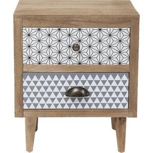 Nachttisch Capri mit 2 Schubladen von KARE Design