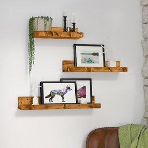 Floating   Hanging Shelves You ll Love   Wayfair. Shelves For Living Room Wall. Home Design Ideas