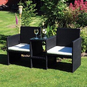 2-Sitzer Doppelbank aus Polyrattan von Kingfisher