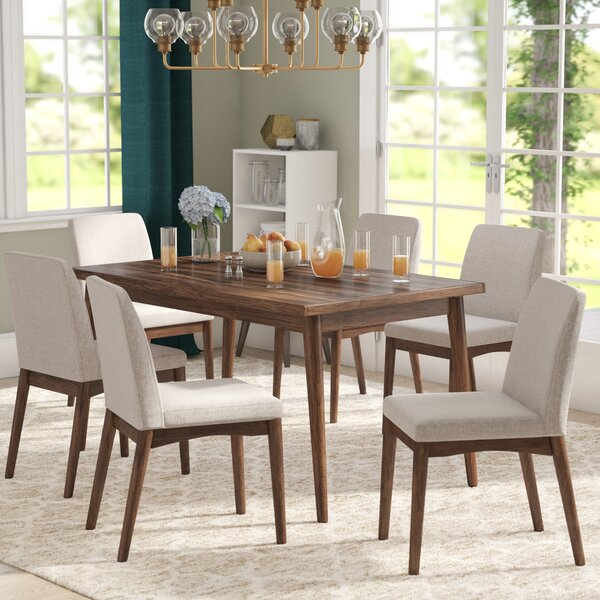 Wayfair Dining Room Chairs Curved Dining Bench Kitchen: Langley Street Lydia 7 Piece Dining Set & Reviews