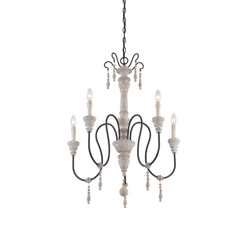 Corneau 5 light candle style chandelier
