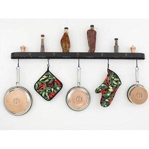 Wall Hanging Pot Rack half round pot racks you'll love | wayfair