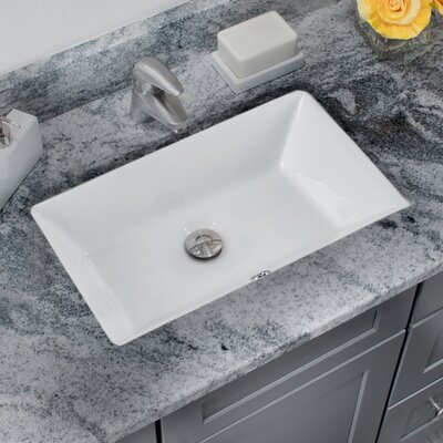 Bathroom Sinks Undermount soleil glazed rectangular undermount bathroom sink with overflow