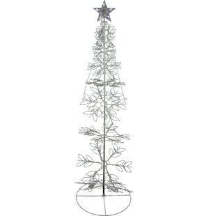 led lighted outdoor meteor effect snowflake hoop christmas tree yard art decoration - Wire Lighted Outdoor Christmas Decorations