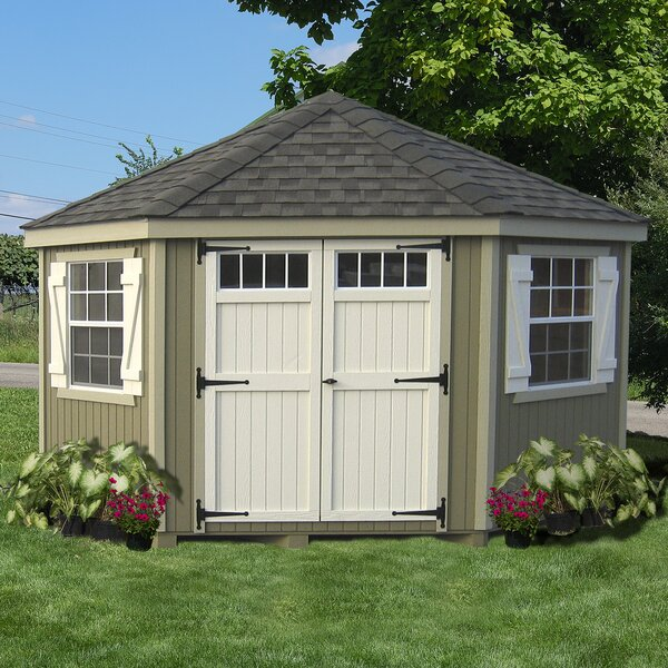 Little Cottage Company Colonial 10 Ft W X D Wooden Storage Shed Reviews Wayfair