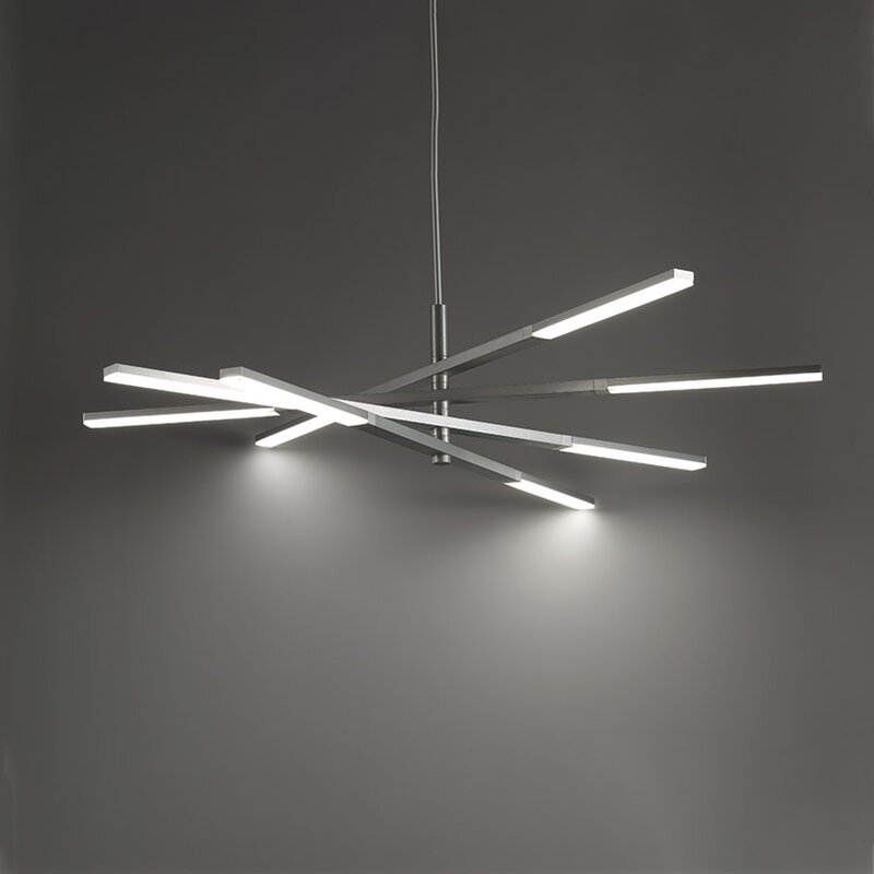 Stacked 8-Light LED Sputnik Chandelier & Reviews | AllModern