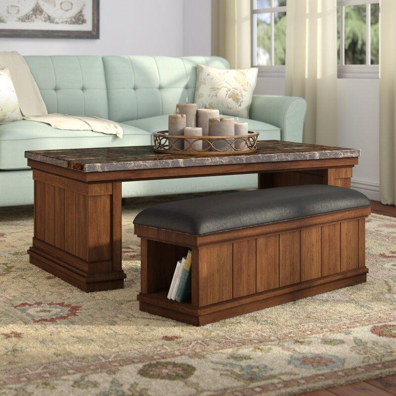 2 Piece Wendall Coffee Table U0026 Ottoman Set