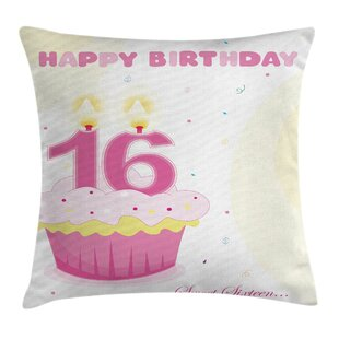 Cool Cupcake Candle Teen Girls Square Pillow Cover