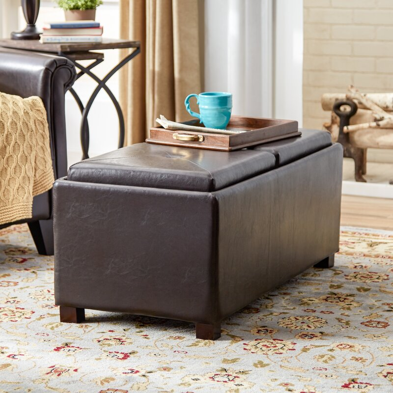 Andover Mills Leslie Double Tray Storage Ottoman Reviews Wayfair