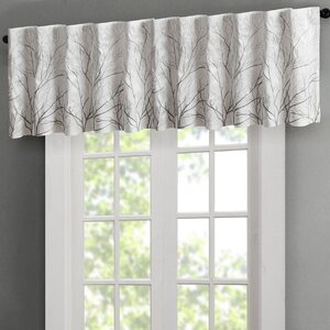 """Bittle Faux Silk Embroidered 50"""" Window Valance"""