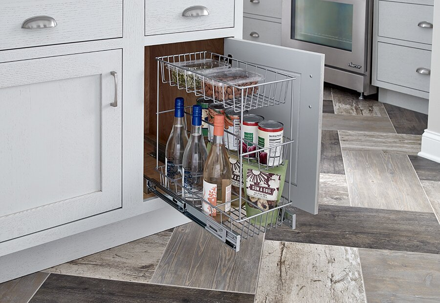 ClosetMaid 3 Tier Compact Kitchen Cabinet Pull Out Basket