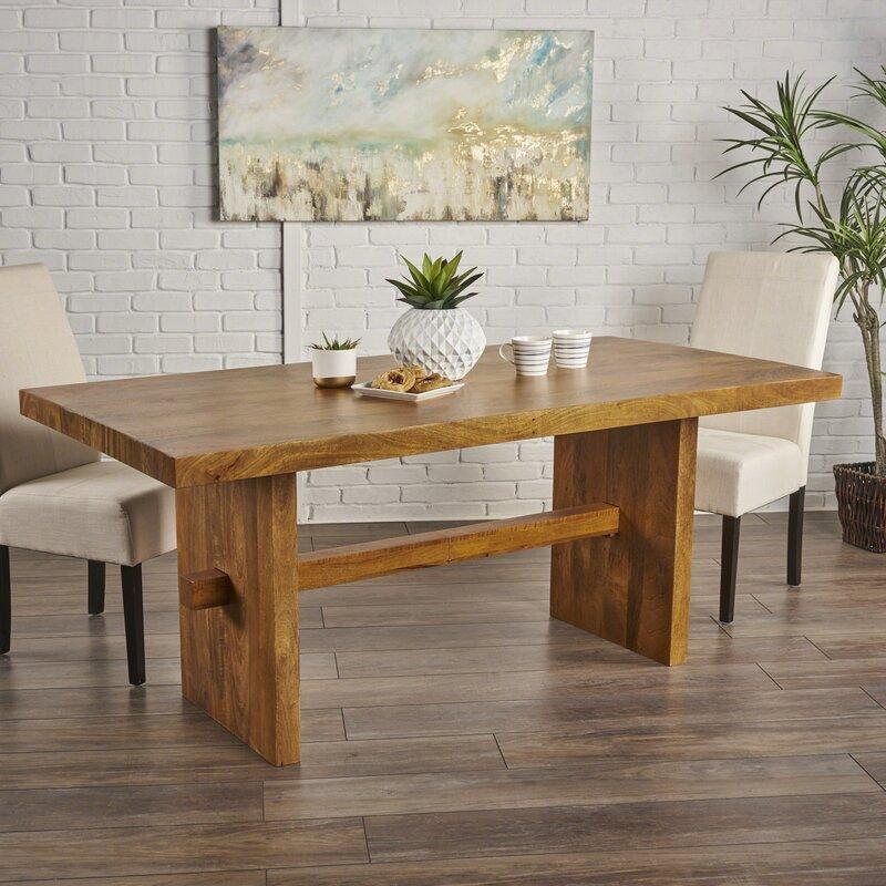 Charmant Burkhardt Mango Wood Dining Table