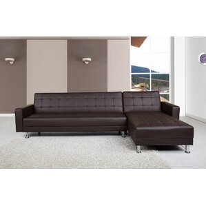sc 1 st  Wayfair : sectional brown leather sofa - Sectionals, Sofas & Couches