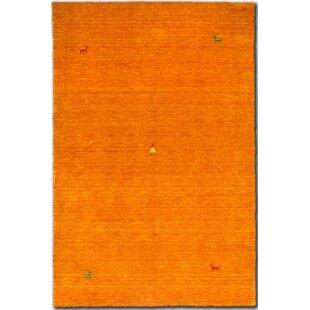 Brecksville Hand Knotted Orange Rug by Longweave