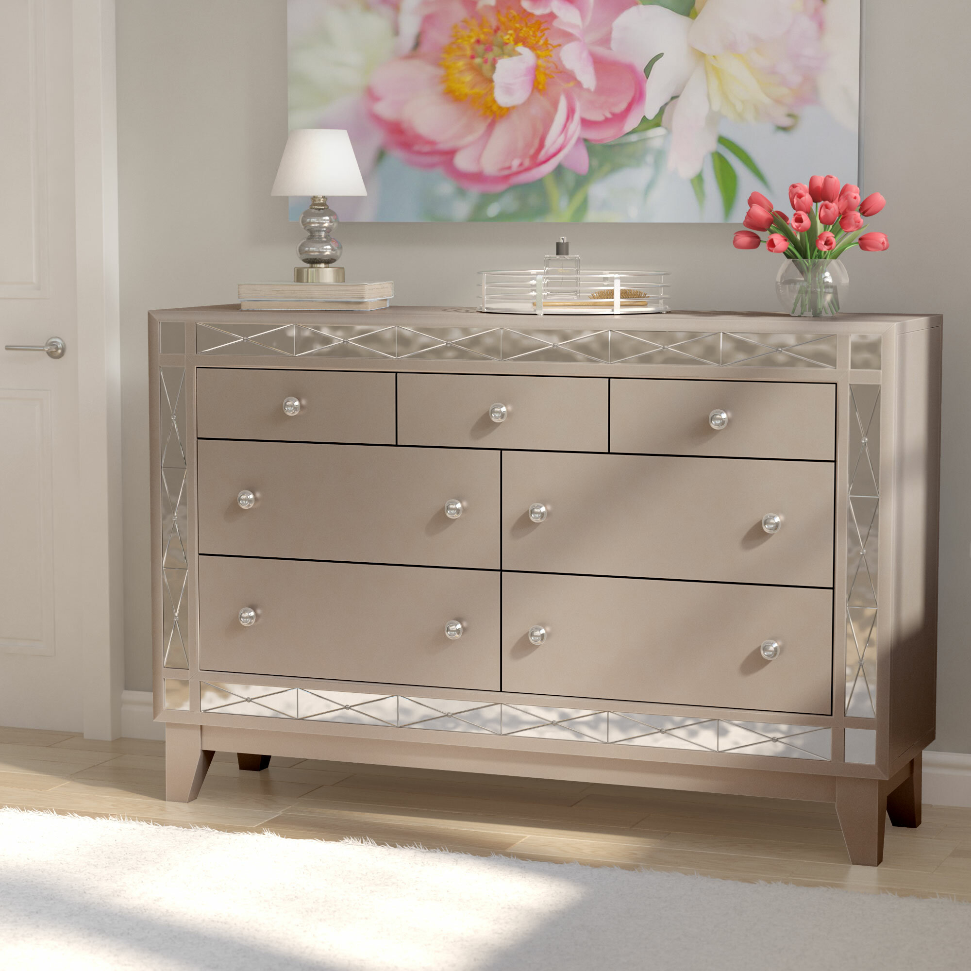 fabric jonesy drawer mid upholstered dresser studio baxton century grey