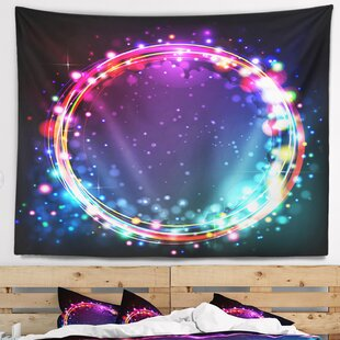 Marvelous Abstract Purple Blue Circle Lights Tapestry