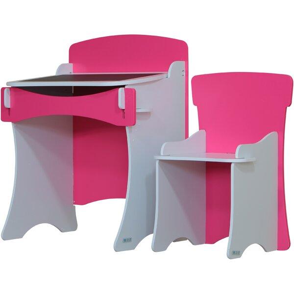 kidsaw 2 tlg schreibtisch und stuhl set blush. Black Bedroom Furniture Sets. Home Design Ideas