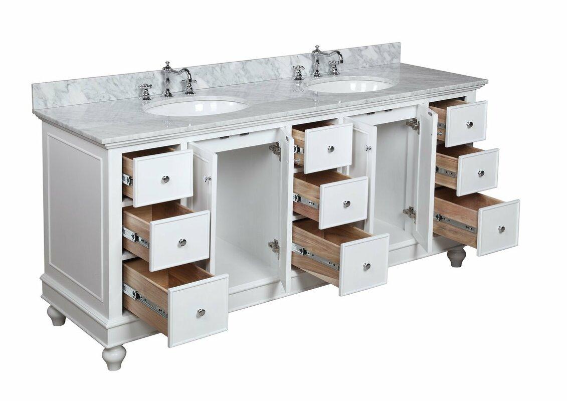 Kbc Bella 72 Quot Double Bathroom Vanity Amp Reviews Wayfair