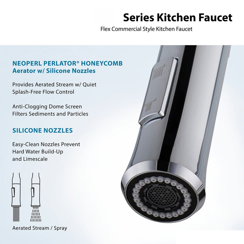 Nola Pull Down Single Handle Kitchen Faucet